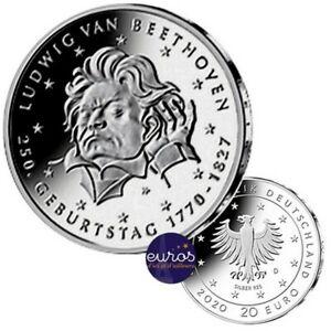 20-euros-ALLEMAGNE-2020-250eme-anniversaire-Ludwig-van-BEETHOVEN-Argent-925