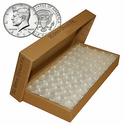 50-T30mm AIRTITE//DIRECT FIT COIN HOLDER CAPSULE U.S Kennedy HALF DOLLARS
