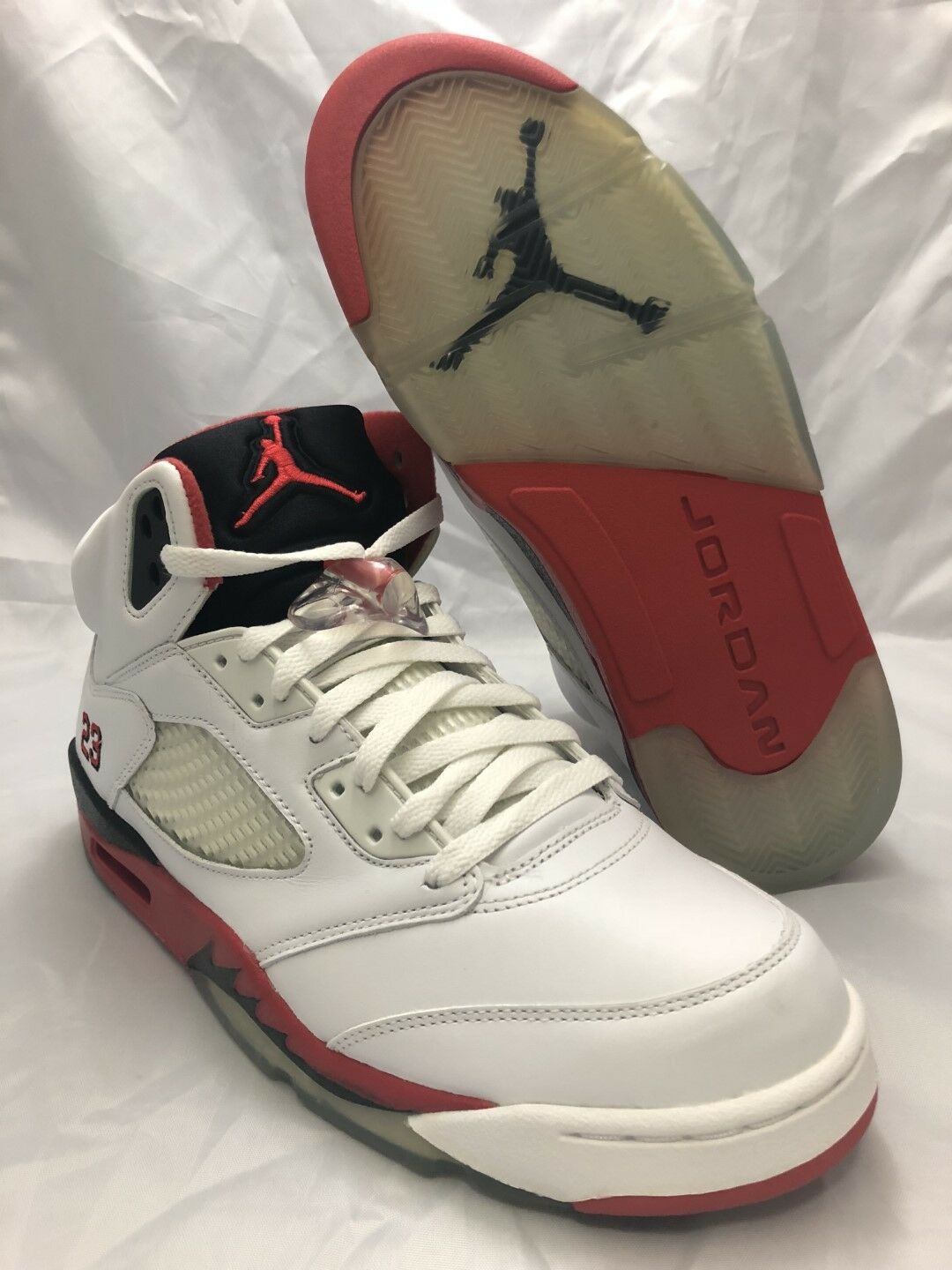 NEW DS Nike Air Jordan V (5) Black Retro Fire Red White Black (5) 2006 Size 11 136027 162 659fae