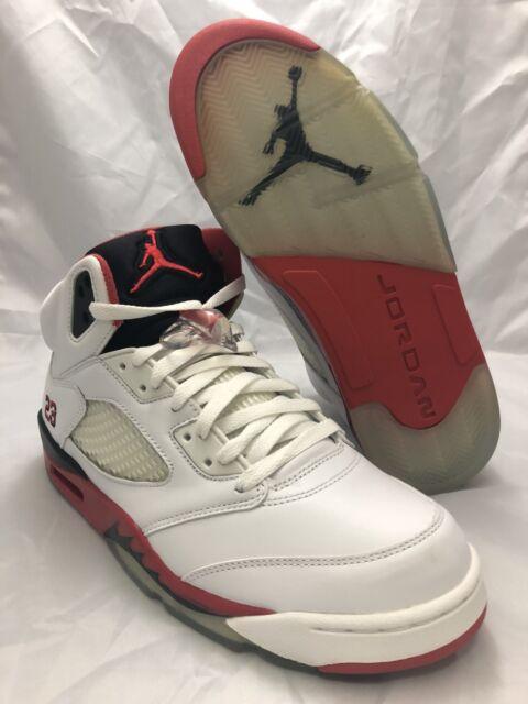 hot sale online 3f424 412fb NEW DS Nike Air Jordan V (5) Retro Fire Red White Black 2006 Size