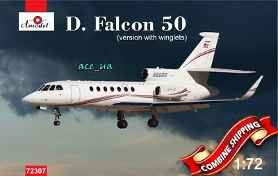 Aircraft Dassault Falcon 50//50EX Plastic Model Kit 1//72 Amodel 72293