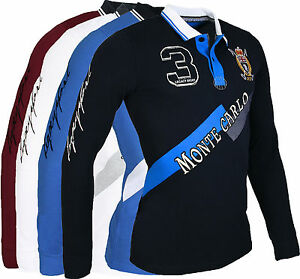 Polo-homme-slim-fit-chemise-a-manches-longues-T-shirt-bleu-marine-blanc