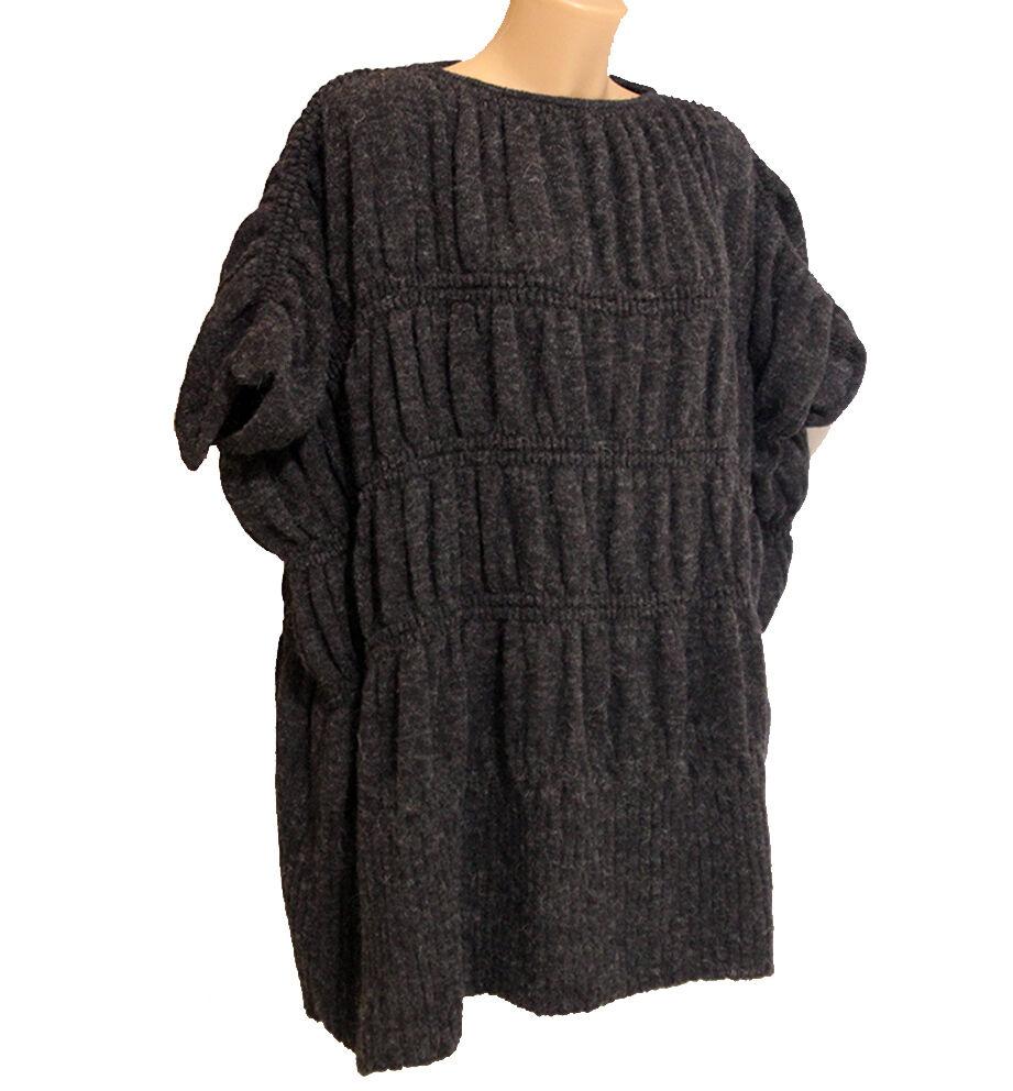 794d156edc92 Maglia maglione taglia 44 vestibilità vestibilità vestibilità larga grigio  lana donna ea95b6