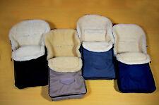 Fußsack, für Maxi Cosi, Babyschale, innen 100% Merino-Schurwolle, Farbauswahl