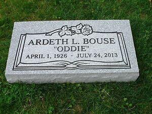 Granite Headstone Grave Marker- Gray- multiple engraving ...