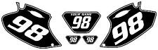 2001-2002 Yamaha WR250F Pre-Printed Black Backgrounds White Pinstripe