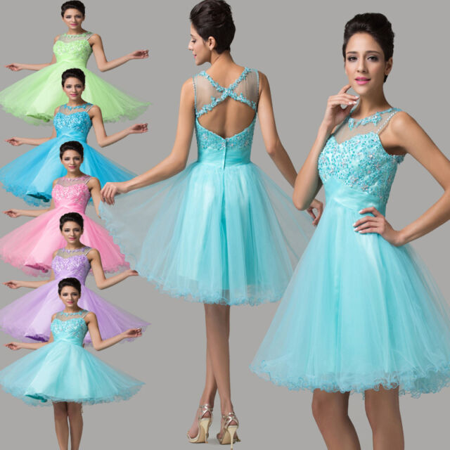 Fairy COLORFUL PRINCESS~ Short Homecoming Bridesmaid Graduation Party Prom Dress
