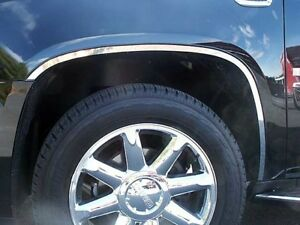 6PC-Stainless-Steel-Wheel-Well-Accent-Trim-WQ47295-CADILLAC-ESCALADE-2007-2014