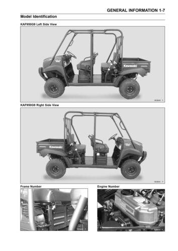 New Kawasaki Mule 4010 Trans 4x4 Diesel Service Manual 2009 2010 2011 2012 2013