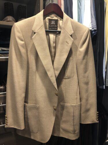 Vintage Lanvin Linen Blazer jacket Men's 42s  197… - image 1