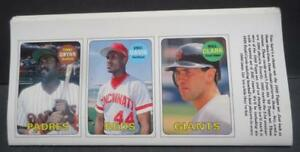 Details About 1990 Bbc 1969 Topps Replica Baseball Promo Cards Magazine Insert Uncut Set