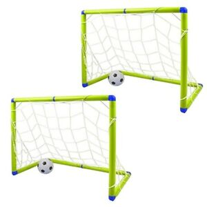 2 X Enfants 1.2 M X 0.8 m. Junior but de foot soccer Set with ball & pompe NL10I 							 							</span>