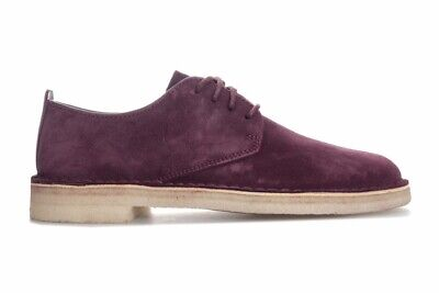 NIB MENS SIZE 11.5 CLARKS DESERT CROSBY LEATHER SHOES BEESWAX 33710