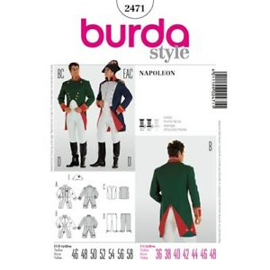 Burda Style Pattern  2471 Napoleon Hat Jacket Vest Pant - Adult ... 32dd01fc704
