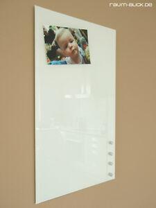 raum-blick Glas Magnettafel MAX 50x30 cm weiß, Magnetwand Magnetboard Whiteboard