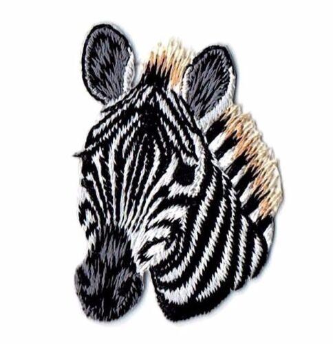 Iron on Applique//Embroidered Patch Zebra Head//Face Zoo//Safari//Wild Animals