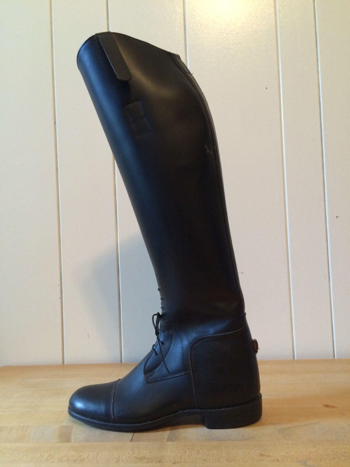 Elan inglés botas de montar Cuero Negro Doma Doma Doma Ecuestre Ryder Alto Talla 5 Usado En Excelente Condición  primera reputación de los clientes primero