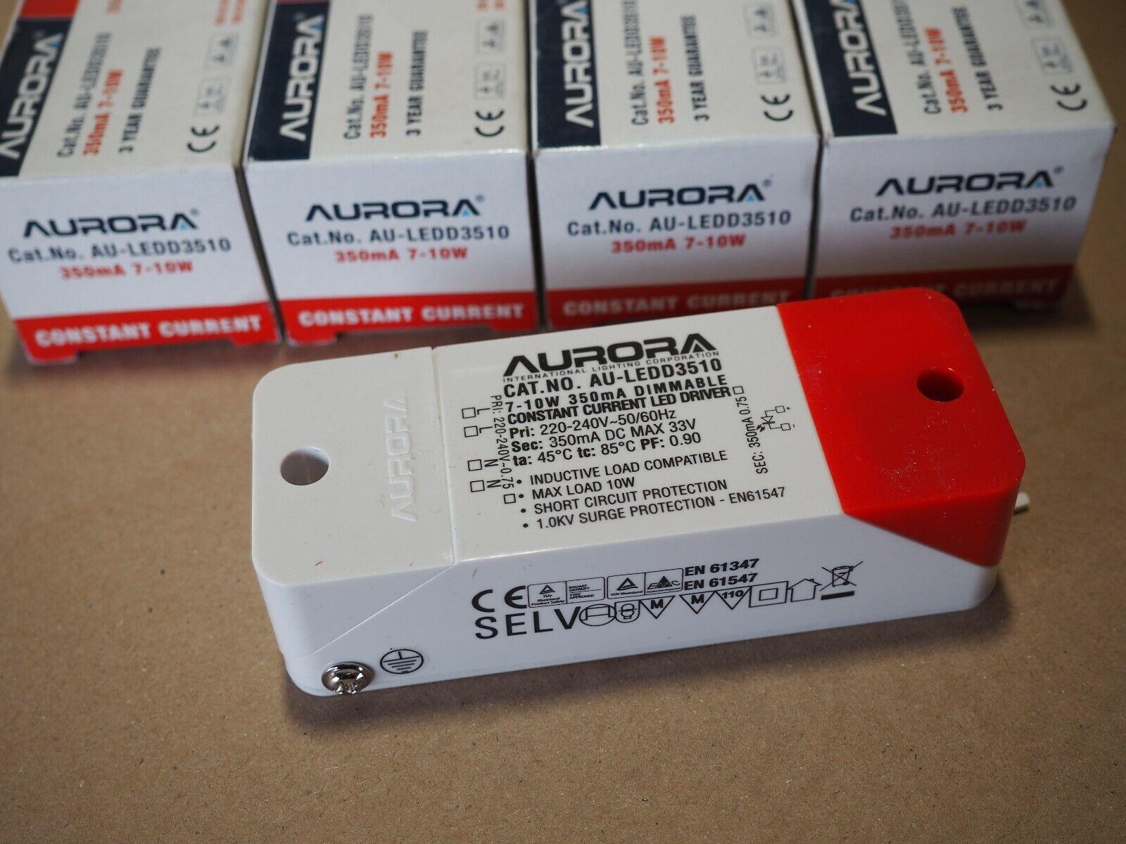 4x Aurora Constant Current (DC) LED Driver.7W-10W 350mA. (7W,8W,9W,10W)