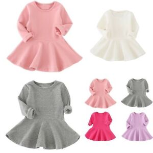 Toddler-Girls-Baby-Dress-Long-Sleeve-Princess-Party-Pageant-Dresses-Kids-Clothes