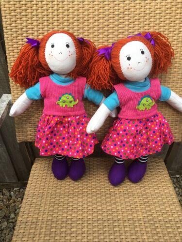Bambola di pezza 38cms TWIN PERSONALIZZATA BAMBOLE DI PEZZA Keli /& Lili Battesimo Fiore Ragazza