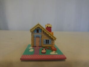 Vtg Polly Pocket Winter Ski Lodge Chalet House 1993 Bluebird 100/% Complete