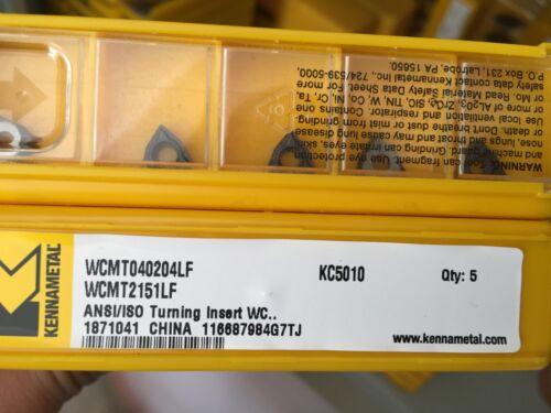 KENNAMETAL WCMT2151LFKC5010 WCMT040204LF KC5010 Carbide Inserts 10Pcs