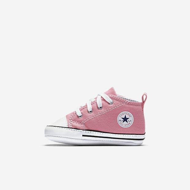 ~ lado Actor Ver insectos  Converse Newborn Crib Pink 88871 First All Star Baby Girl Shoes Size 2 for  sale online | eBay