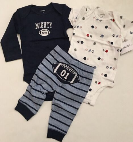 Carters Baby Boy Bodysuit Pants Size Newborn 3 6 9 12 18 24 Months Sports Blue