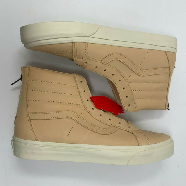 Mens VANS Sk8 hi Reissue Zip Veggie Tan Leather VN0A349ALUI US 11