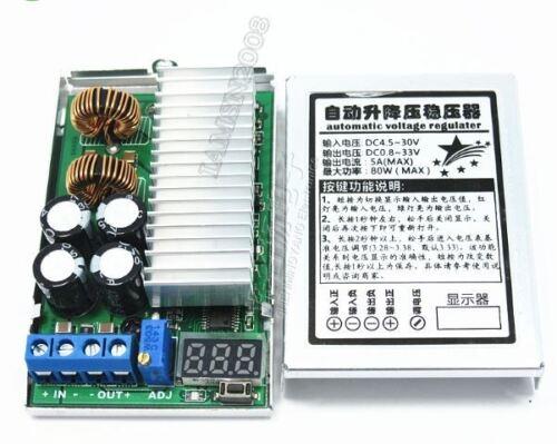 80W Dc 5A Dc-Automatischer Hub-Buck-Boost-Regler 3,3 ~ 30 V Bis 1 ~ 33 V qz
