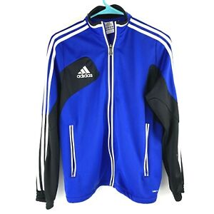 Adidas Climacool Full Zip Jacket Blue Stripe Logo Track Jacket ...