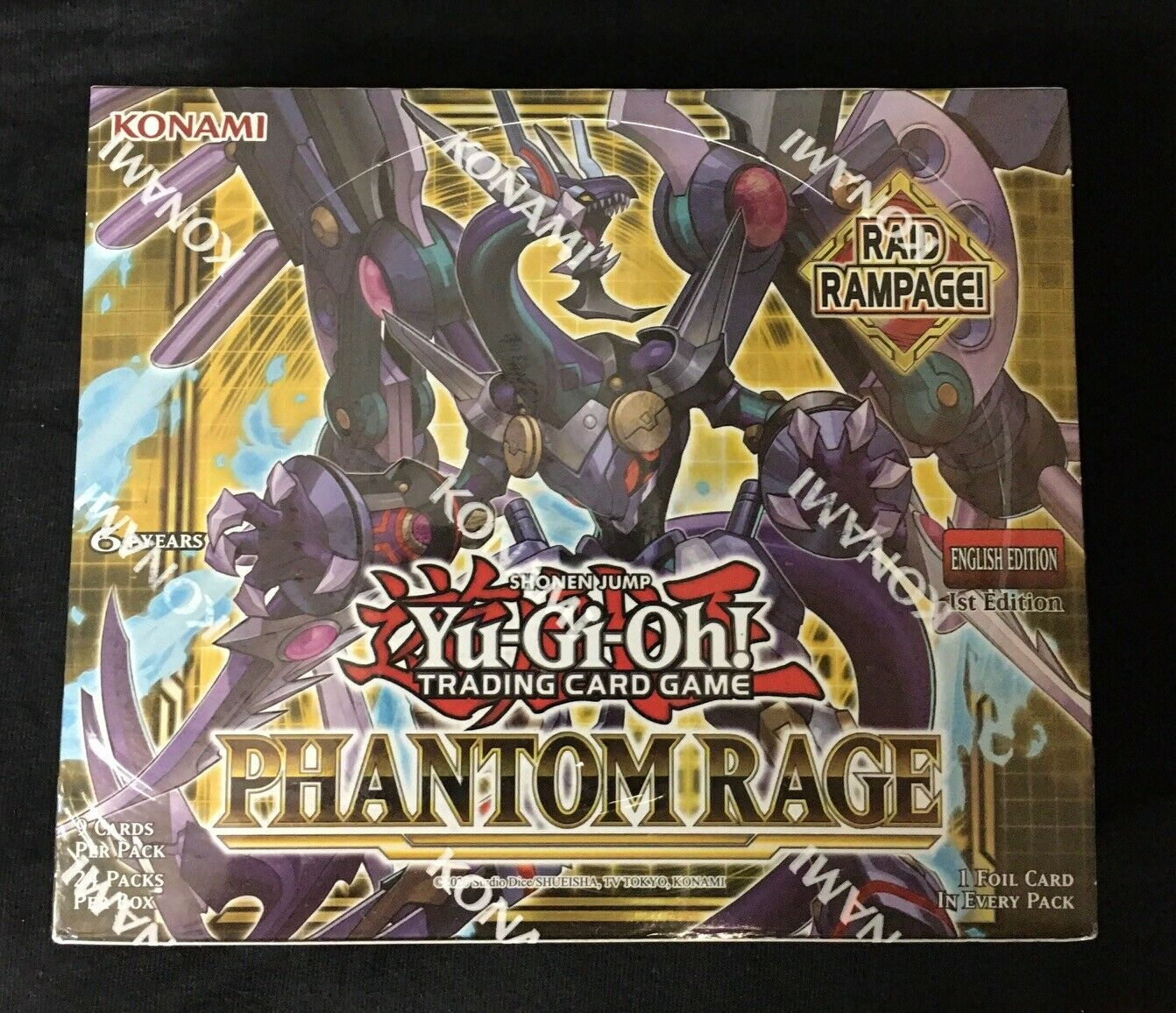 Phantom Rage Booster Box 1st Edition IN STOCK Fast Postage New Sealed Yu-Gi-Oh