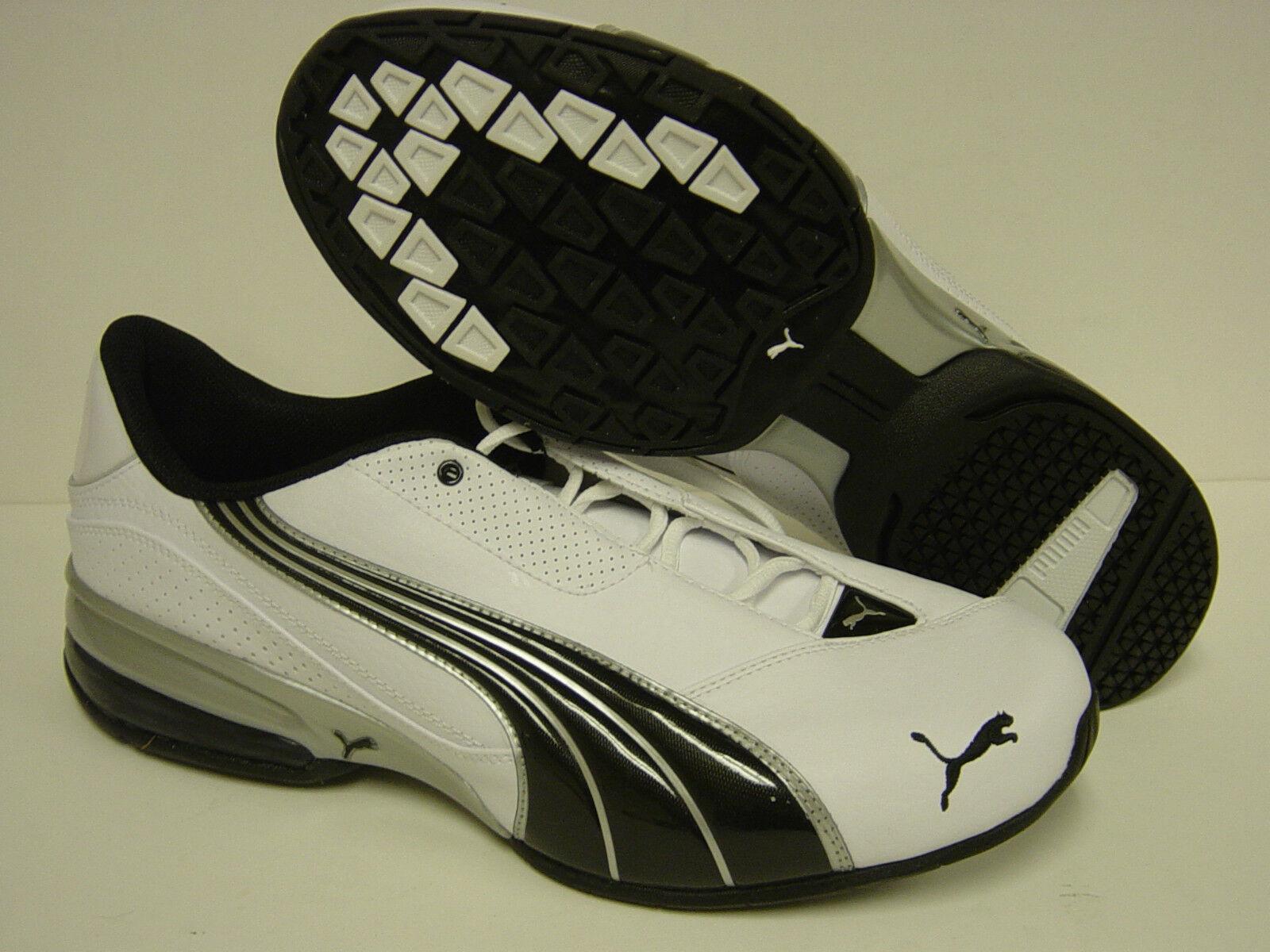 Nuevo Para Hombre Puma Cell Jago 6 185009 09 blancoo Negro Plata Zapatillas Zapatos