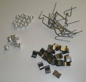Greenhouse-Fixing-Repair-Kit-Spares-Parts-100-W-amp-100-Z-Clips-100-Nuts-100-Bolts