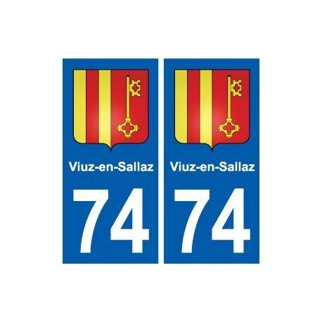 74 Viuz-en-Sallaz blason autocollant plaque stickers ville droits