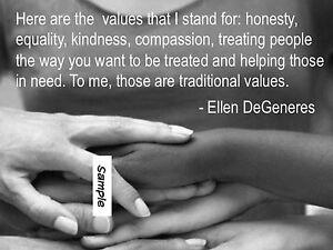 "Ellen DeGeneres motivation photo magnet ( 2.5"" x 3.5"" )"