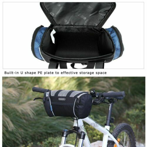 5L Bike Handlebar Bag With Strap Front Tube Pannier Basket Bicycle Shoulder Bags