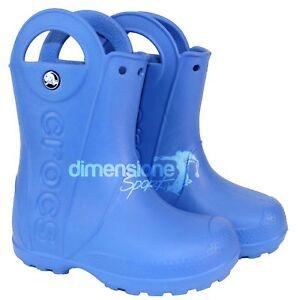 CROCS-STIVALI-PIOGGIA-BAMBINO-KIDS-HANDLE-IT-RAIN-BOOT-C-10-ITA-25-26-12803