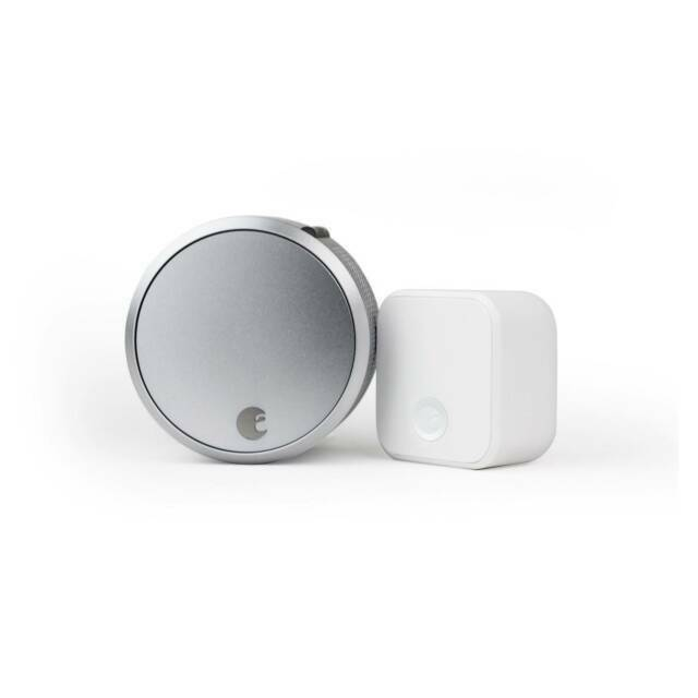 August Smart Lock Pro with Connect Wi-Fi Bridge - Silver  Re