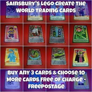 Sainsbury-039-s-Lego-Create-the-World-Trading-Cards-Choose-The-Cards-Needed-New