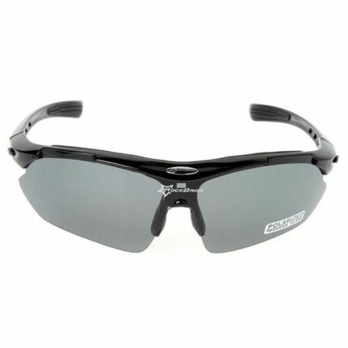 ROCKBROS Polarized Cycling Glasses Eyewear Bike Goggles Fish Sunglasses 5 Lenses