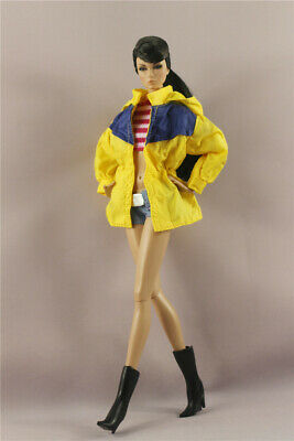3in1 Fashion loose yellow coat  Clothes//Outfit Vest+Shorts  For 11.5in.Doll