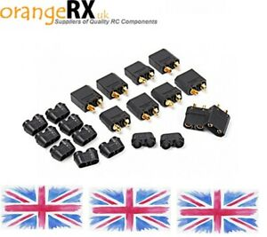 Black-XT90-Lipo-Plug-Male-amp-Female-Connectors-1-or-5-Pairs-by-AMASS-orangeRX