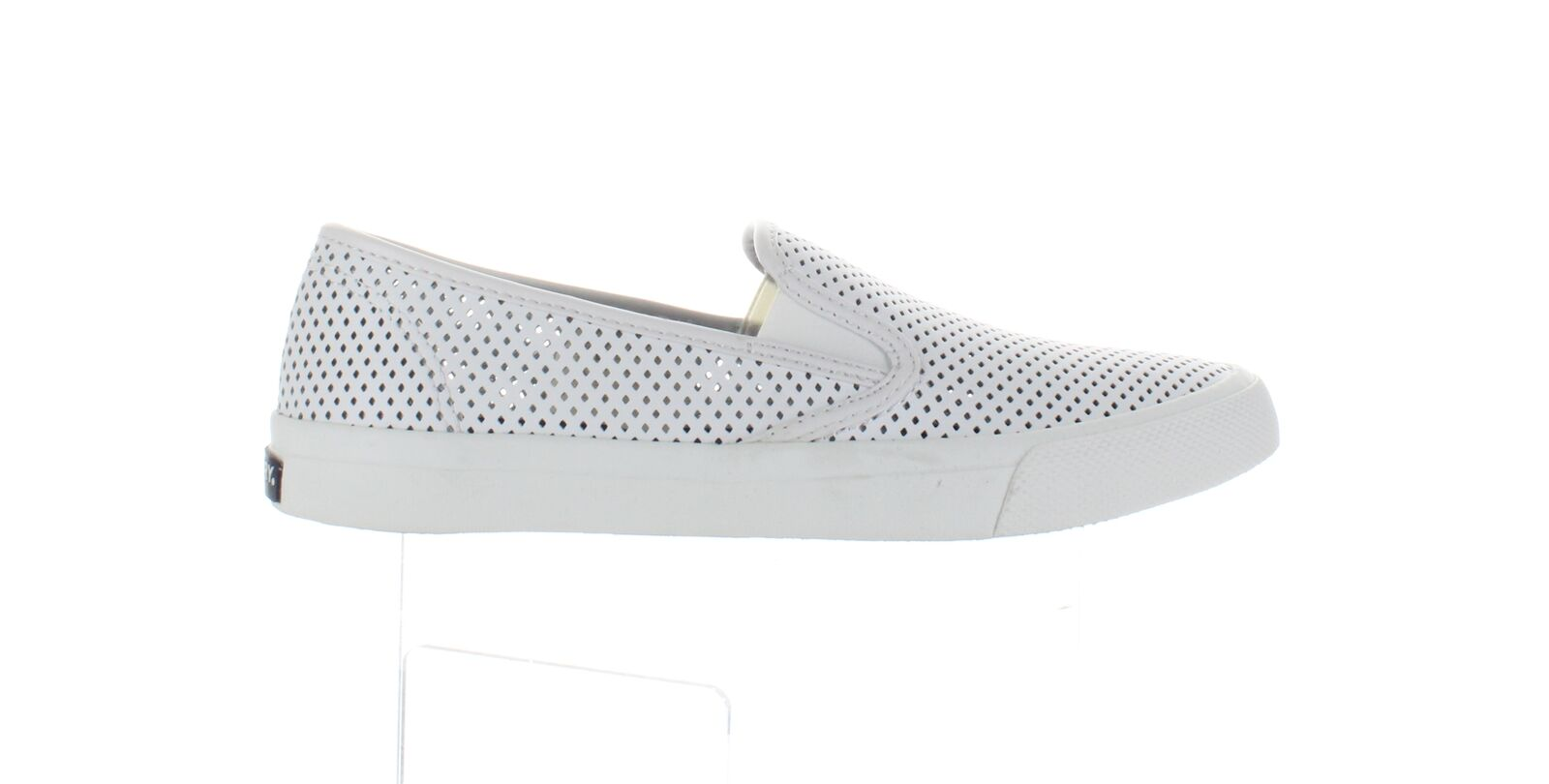 Sperry Top Sider Womens Seaside Perf White Size 8.5 (1963321)