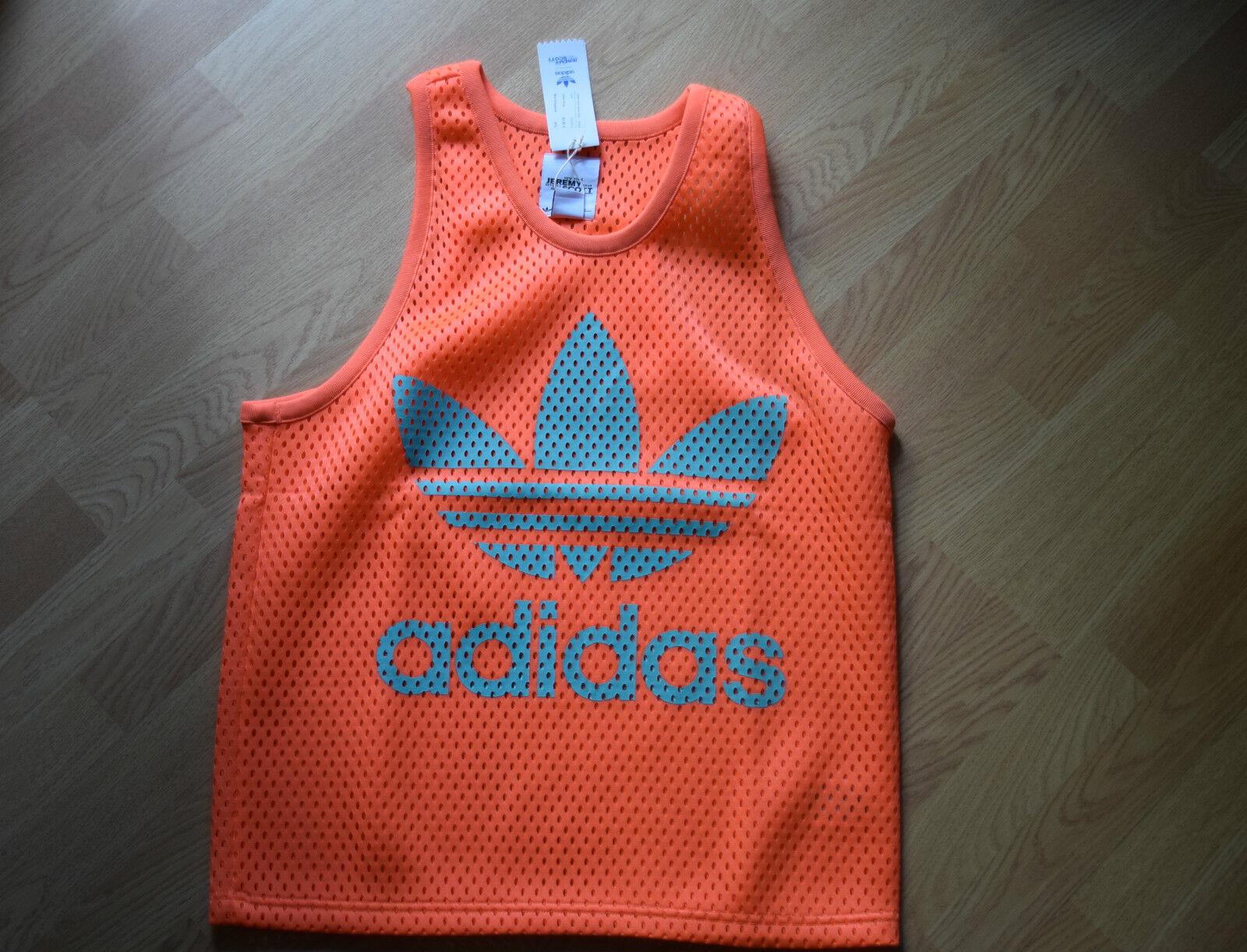 Adidas Jeremy Scott Puff Mesh Tank S M obyo F50861 TOP SHIRT LEOPARD JS