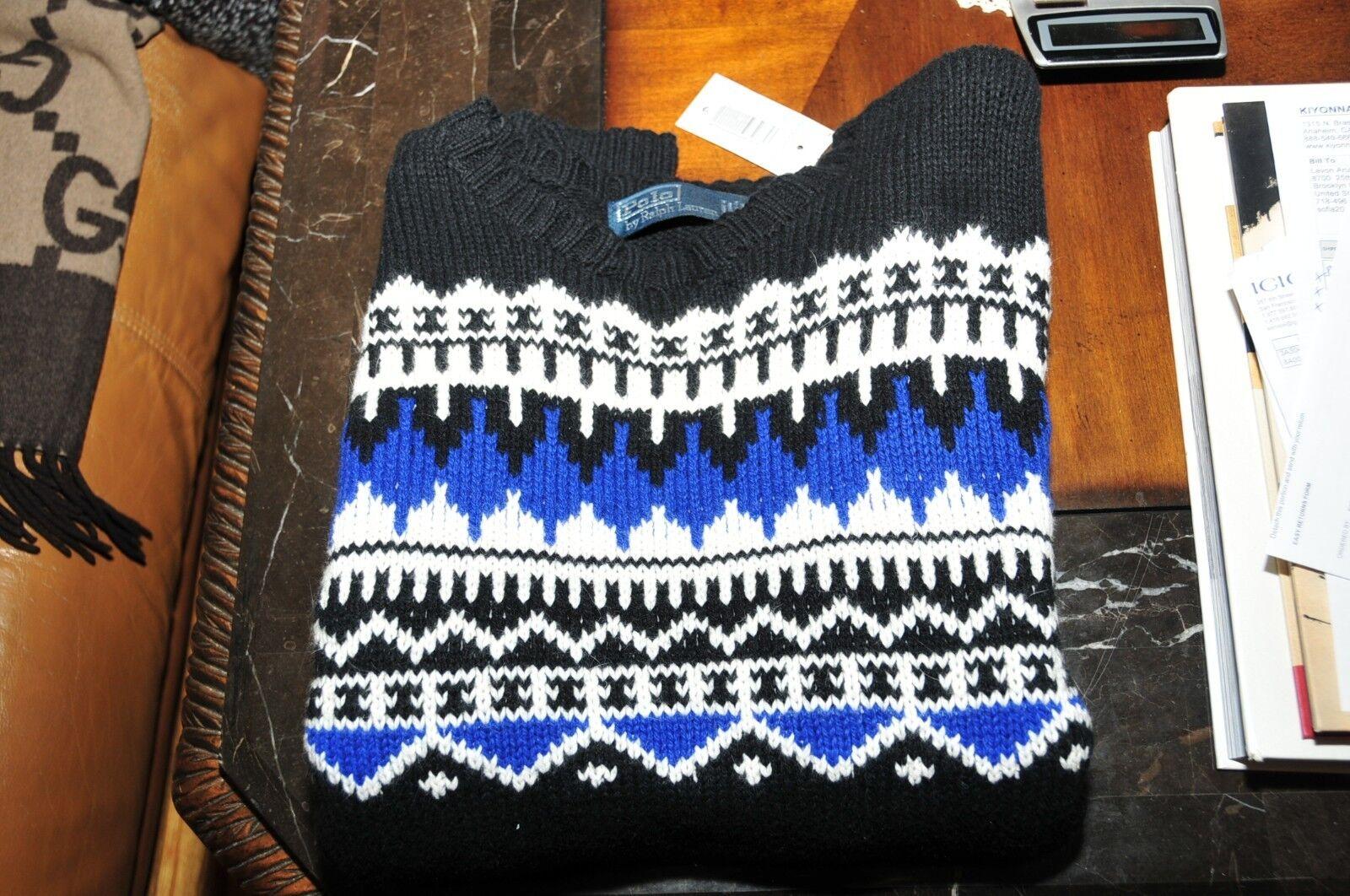265 NWT NWT NWT autentico Polo Ralph Lauren Uomo Snow Sweater, XL 5110d8