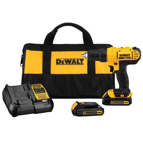 """DEWALT 20V MAX Li-Ion 1/2"""" Compact Drill Driver Kit DCD771C2 NEW"""