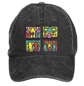 eae9e27ce74 Keith Haring Pop Artist Design Men s Cotton Washed Baseball Cap Hats ...
