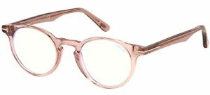 Tom Ford FT 5557-B BLUE BLOCK Light Pink 48/21/145 Unisex Brillen