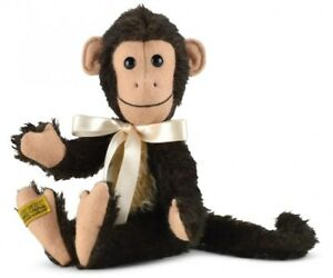 "Artist Humorous Merrythought Milo Monkey 9"" Jointed Mohair Soft Toy Collectable mmu9"